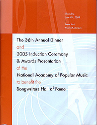2005 Ceremony Journal