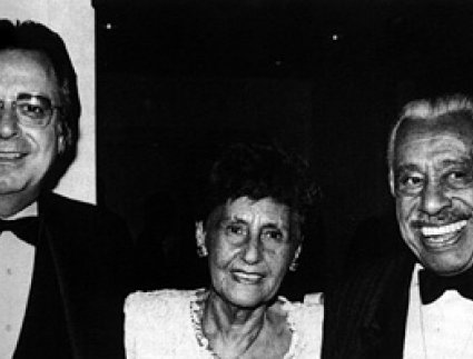 SHoF Vice President Bobby Weinstein with Mr. and Mrs. Cab Calloway