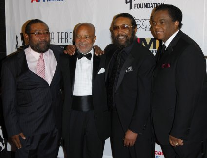 Brian Holland, Berry Gordy, Eddie Holland, and Lamond Dozier