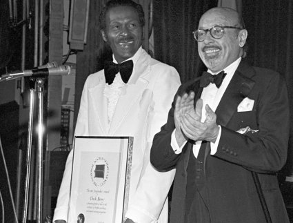 Chuck Berry and Ahmet Ertegun