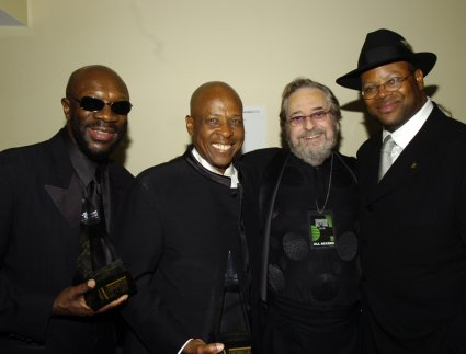 Isaac Hayes, David Porter, Phil Ramone, and Jimmy Jam
