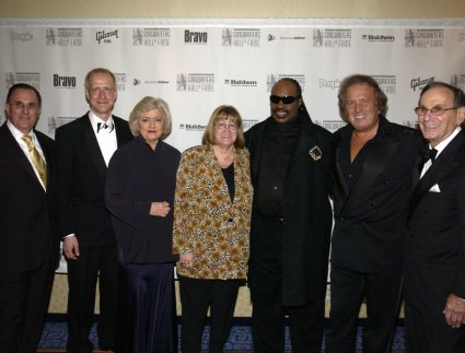 John LoFrumento, Henry Juszkiewicz, Frances Preston, Linda Moran, Stevie Wonder, Don McClean, Hal David