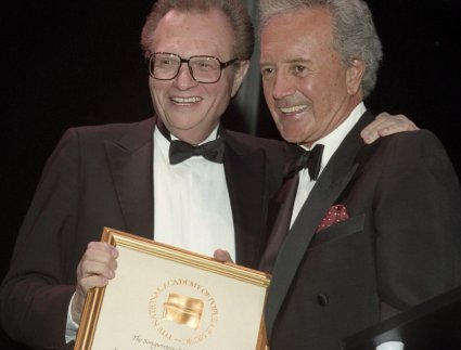 Larry King and Vic Damone