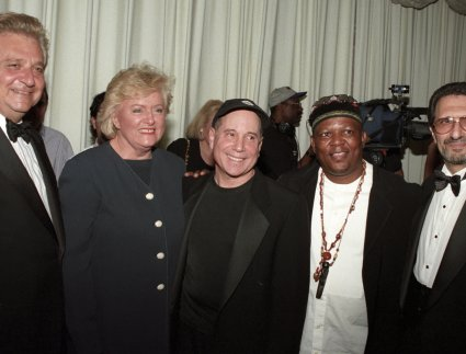 Martin Bandier, Frances Preston, Paul Simon, Irwin Robinson