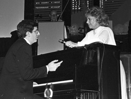 Marvin Hamlisch and Dinah Shore