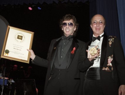 Phil Spector and Paul Shaffer