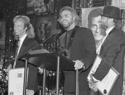 Robin, Barry, and Maurice Gibb