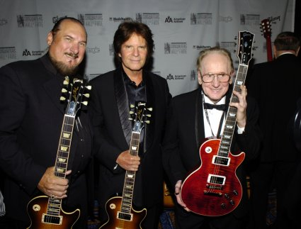 Steve Cropper, John Fogerty, and Les Paul