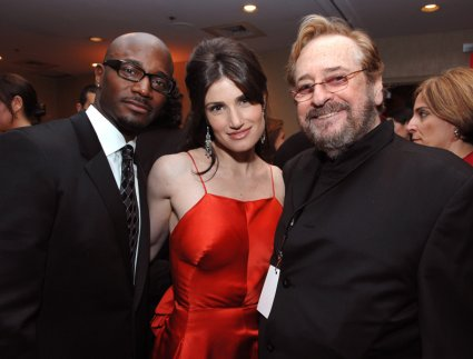 Taye Diggs, Idina Menzel, and Phil Ramone