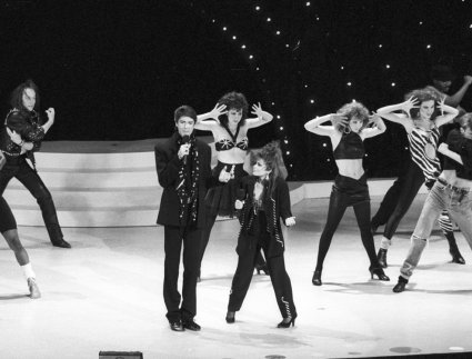 Tommy Tune and Paula Abdul