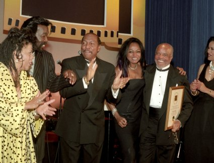 Valerie Simpson, Nickolas Ashford, Billy Davis, Diana Ross, Berry Gordy, Marilyn McCoo