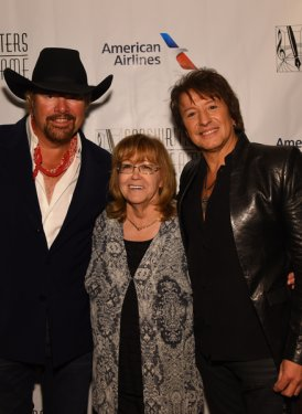 Toby Keith, Linda Moran and Richie Sambora