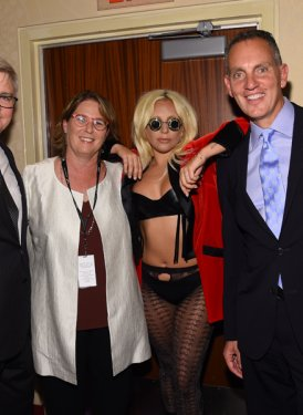 BMI's Phil Graham, Alison Smith, Lady Gaga, BMI President/CEO Mike O'Neill and Barbara Cane