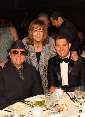 Van Morrison, Linda Moran and Michael Buble