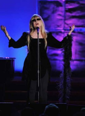 Stevie Nicks performs for Bette Midler