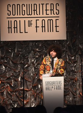 Benny Blanco presents Hal David Starlight Award to Nick Ruess