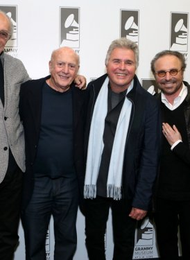 (left to right) Jeff Barry, Mike Stoller, Steve Tyrell, Barry Mann and Cynthia Weil