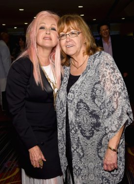 Cyndi Lauper and Linda Moran