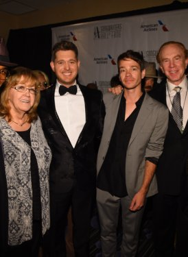 Ne-Yo, Linda Moran, Michael Buble, Nate Ruess, Alan Kalter and Martin Bandier