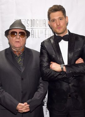 Johnny Mercer Awardee Sir Van Morrison and presenter/performer Michael Buble