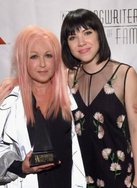 Inductee Cyndi Lauper and performer Carly Rae Jepsen