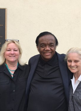 West Coast Projects Committee Members Kathy Spanberger and Barbara Cane with Lamont Dozier.