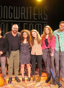 Desmond Child taking a bow with the USC student ensemble