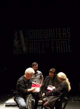 Graham Nash, Tom DeSavia, Mary Jo Mennella and Barbara Cane. Photo by Kylie Nicholson