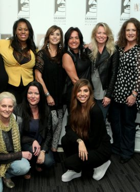 (Back row l to r) Mary Jo Mennella, Makeba Riddick,  Loretta Muñoz, Claudia Brant, Deana Carter, Melinda Newman and Rita George. (Front row) Barbara Cane, Lauren Christy and Christina Perri