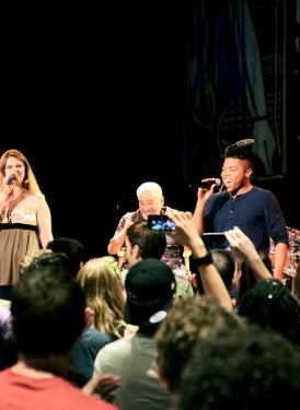 Jay Washington, Anna Delaria, Bill Withers, Javen Smith, Emily Kocontes and Camila Mora