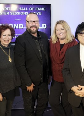 SHOF Board Member Robbin Ahrold & SHOF Board Member/New York Education Committee Chair Karen Sherry, Desmond Child, SHOF Board Members Linda Critelli & John Titta and SHOF's April Anderson
