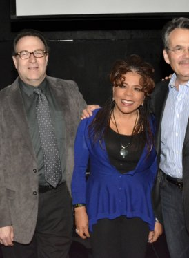 (left to right) Board Member/Chair, Education Committee Robbin Ahrold, Assoc. Professor & Director, NYU's Dept. of Music & Performing Arts Professions Ron Sadoff, Valerie Simpson, NYU's Phil Galdston and SHOF Board Member Charlie Feldman. Photos by April Anderson